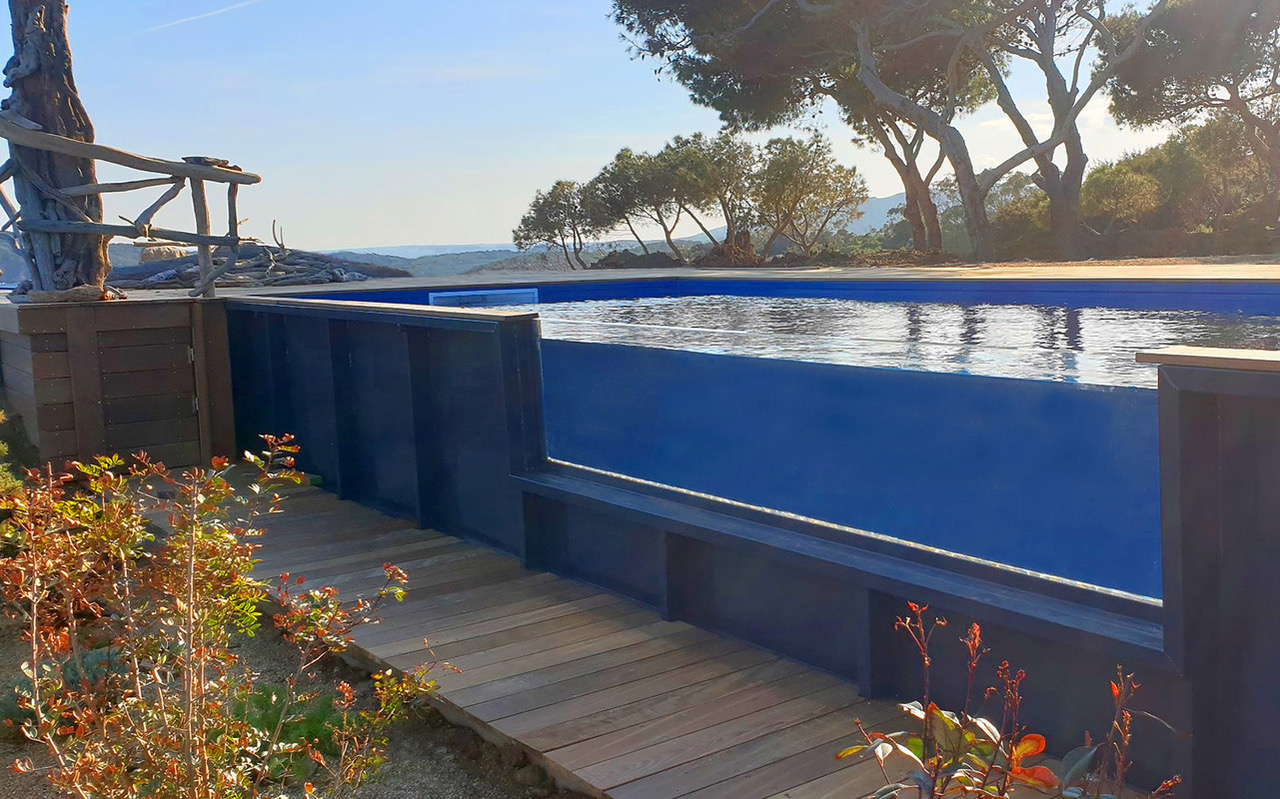 piscine container auto-portante bassin acier