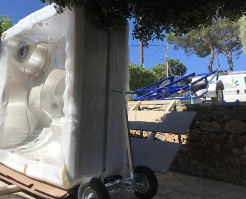 Grand spa 7 place blanc marque caldera, jacuzzi haut de gamme